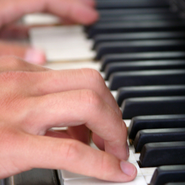 Teaching Adult Beginners Piano. - image Adult-Hand-on-Piano_square_2-1 on https://musicmasterlab.com