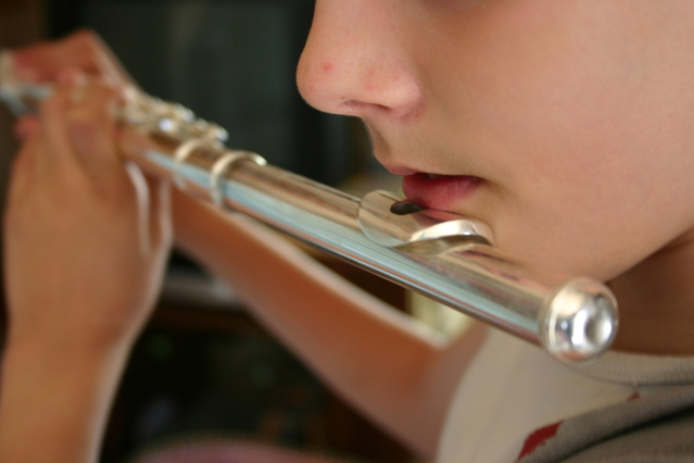 Picking the best music teacher - image Flutist on https://musicmasterlab.com