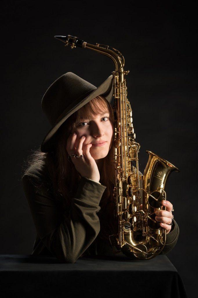 saxophone, music, musician