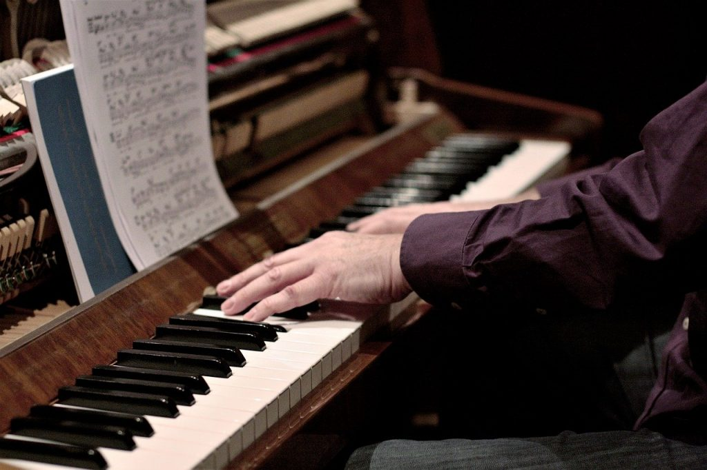 piano, instrument, keys