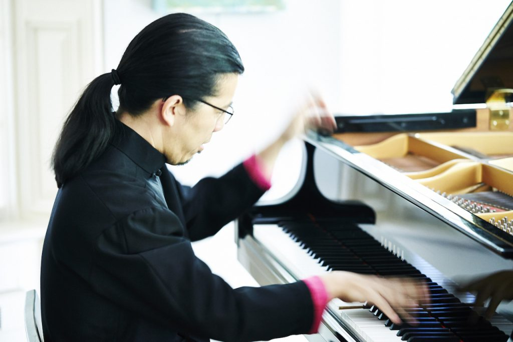 The Relationship Between Mental and Physical Practice - image Frederic-Chiu-Playing-Piano-1024x683 on https://musicmasterlab.com